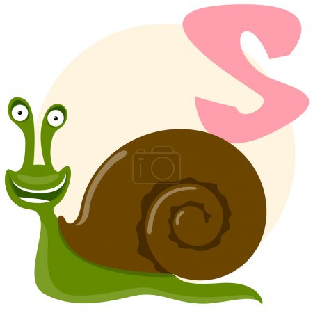 The English alphabet. Snail