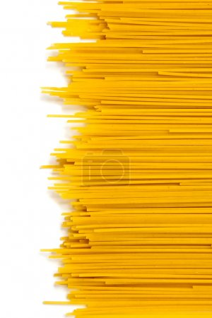 Photo for Close-up raw pasta isolated on white background - Royalty Free Image