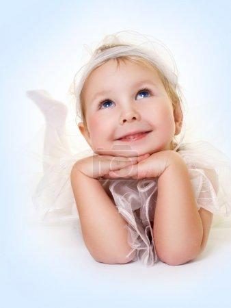 Sweet innocence on blue