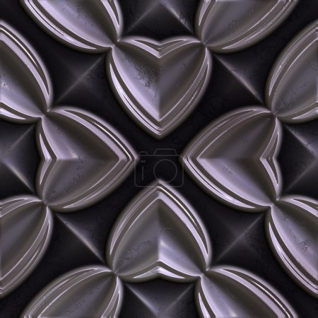 Photo for Metal seamless tileable decorative background pattern - Royalty Free Image
