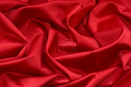 Photo pour Luxurious red satin background. - image libre de droit