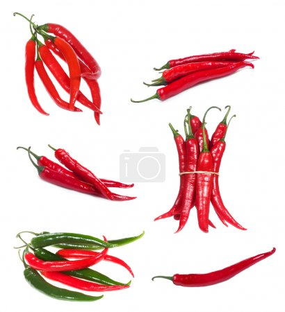 Set with chili pepper
