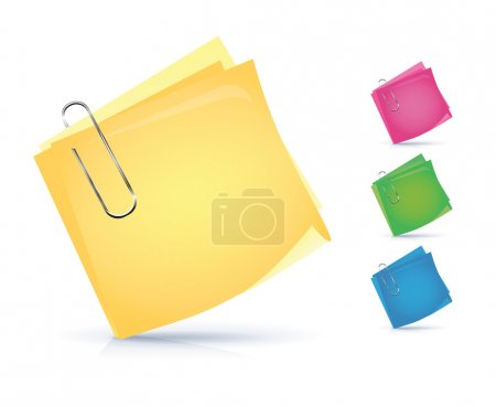 Illustration for Colorful notice papers isolated on white. - Royalty Free Image