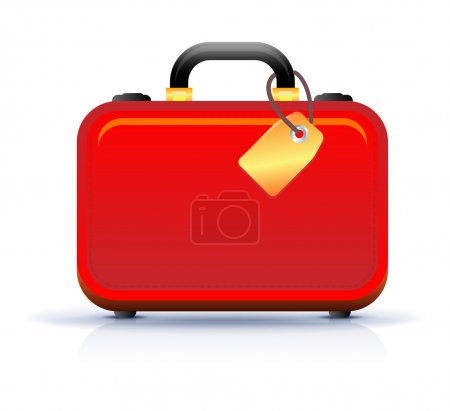 Illustration for Travel suitcase icon on white - Royalty Free Image