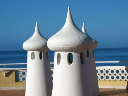Fairy Chimneys on the terrace overlooking the sea