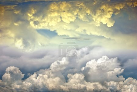 Photo for Beautiful dramatic clouds in a heavenly sky - Royalty Free Image