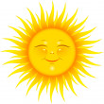 Vector Smiling Sun over white. EPS 8, AI, JPEG...