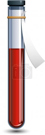 Illustration for Vector Vial of blood over white. EPS 8, AI, JPEG - Royalty Free Image