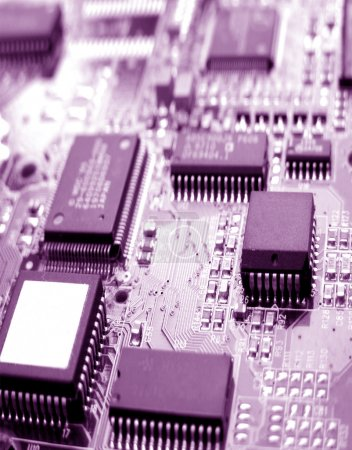 Photo for Close up electronic circuit board - Royalty Free Image