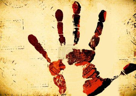 Photo pour Impression de main humaine avec des détails uniques - image libre de droit