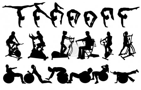 Silhouettes woman fitness