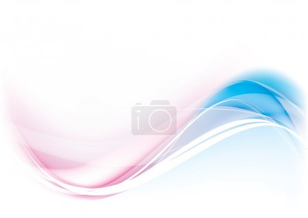 Illustration for Abstract Vector Wave blue and pink color - Royalty Free Image