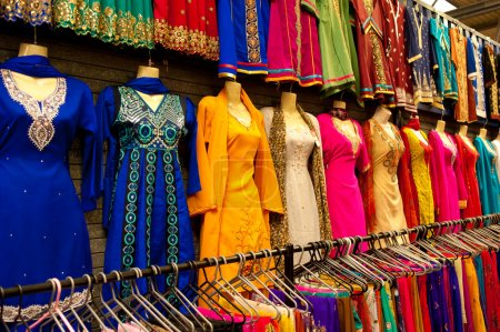 Saris on street market