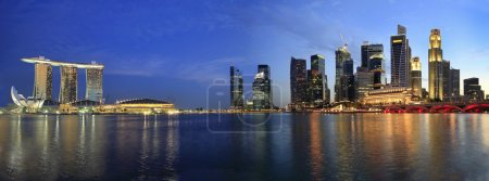 Singapore Cityscape from the Esplanade Panorama