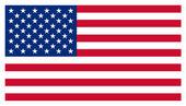 """Постер, картина, фотообои """"Звезды и полосы американский флаг США"""""""