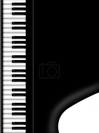 Photo pour Grand piano clavier noir et blanc fond illustration - image libre de droit