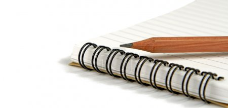 Crayon on notebook