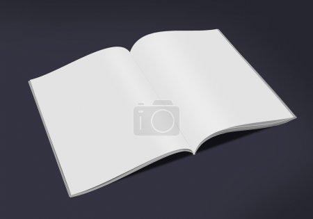 Photo pour Livre ouvert isolée sur fond noir - image libre de droit