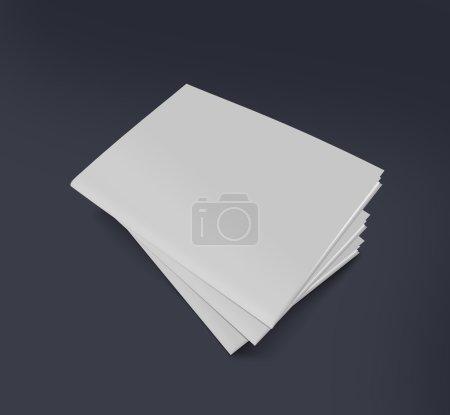 Photo pour Multy brochures isolées sur Effect noir - image libre de droit