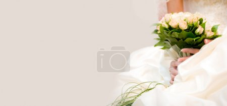 Photo for Beautiful bouquet at the bride in hands - Royalty Free Image