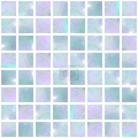 Photo pour Image d'une mosaïque d'opale bleue sans couture - image libre de droit