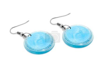Photo pour Boucles d'oreilles bleues - image libre de droit