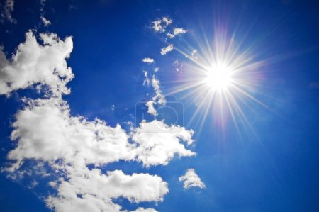 Photo for Blue summer sky with sun - Royalty Free Image