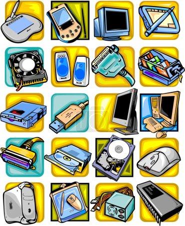 Computer equipment - vector set.