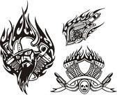 Tribal bikes Vector illustration ready for vinyl cutting