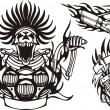 Tribal bikes. Vector illustration ready for vinyl ...