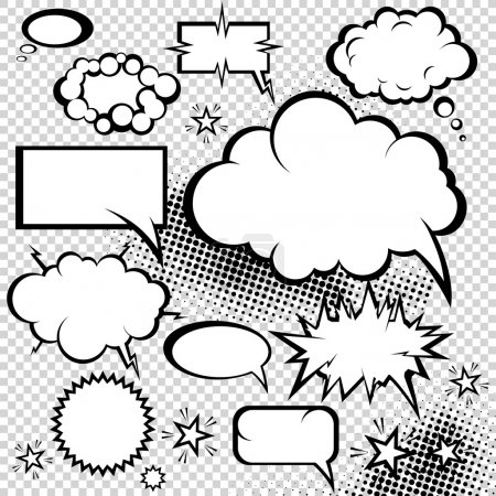 Illustration for Comic bubbles collection. Funny design vector items. - Royalty Free Image