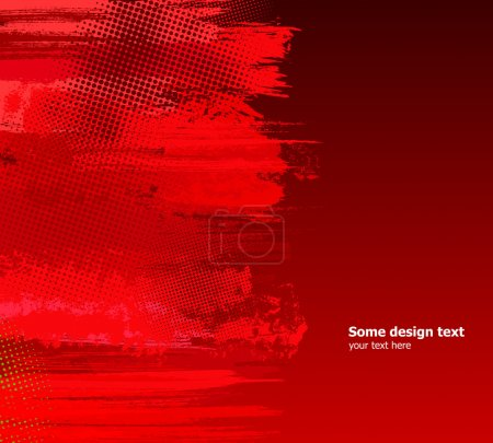 Illustration pour Peinture abstraite rouge éclabousse illustration. Vector grunge background. - image libre de droit
