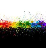 Color paint splashes Gradient vector background