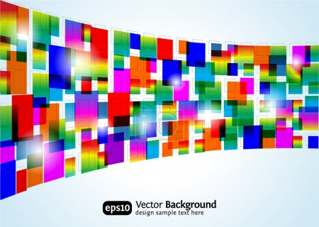 Illustration for Abstract colorful background. Vector rectangle design. Business concept. - Royalty Free Image