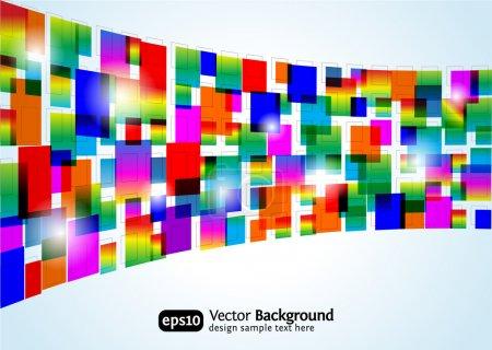 Illustration pour Fond coloré abstrait. Conception de rectangle vectoriel. Concept d'entreprise . - image libre de droit