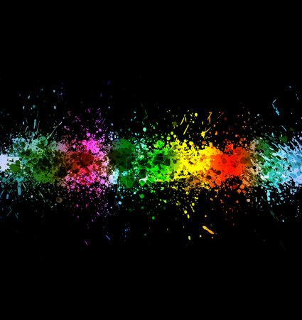 Eps 10 color paint splashes. Gradient vector background