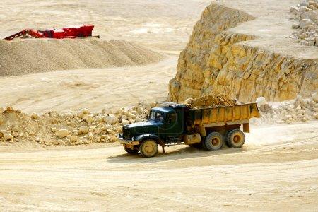 Truck transporting dolomite stone