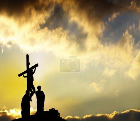 Photo pour Pardon - Jésus se bloque sur Croix - image libre de droit