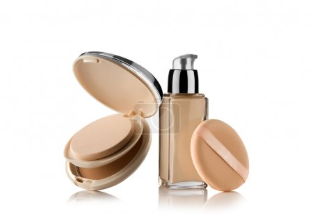 Close up view of Cosmetic liquid foundation with p...