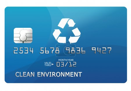 Photo pour Carte de crédit environnementale - image libre de droit