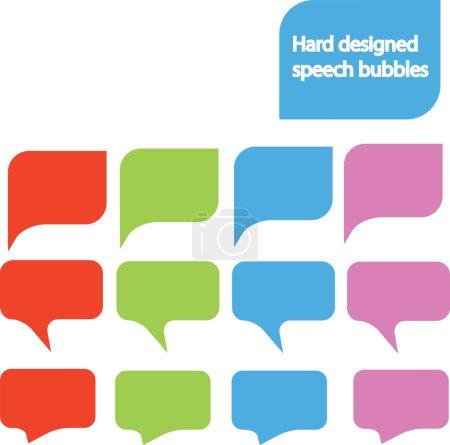 Designed speech bubbles