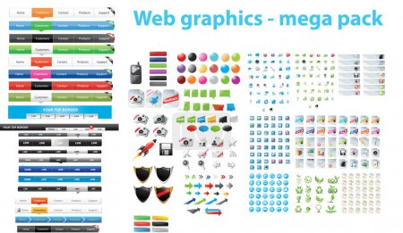Illustration for Huge collection of web graphics - Royalty Free Image