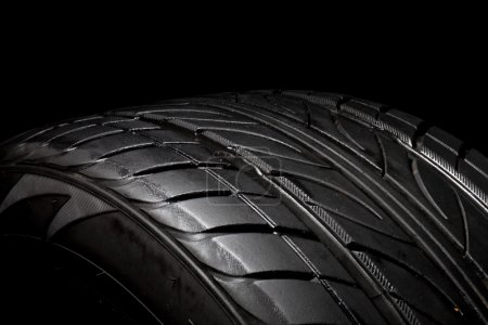 Photo for Car tire, photo on the black background - Royalty Free Image