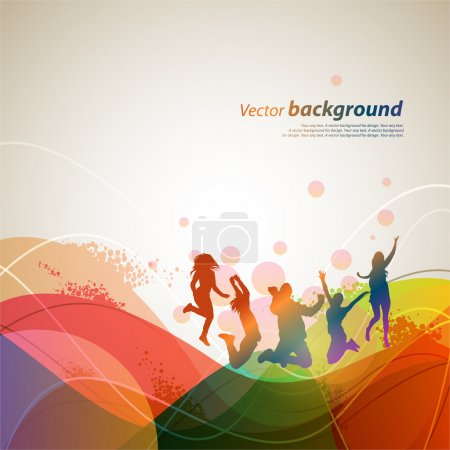 Photo for Colour abstract background for design. A vector illustration - Royalty Free Image