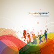 Colour abstract background for design. A vector il...