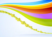 Abstract colored background with shading lines and curves