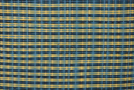 Photo for Simulated plastic rattan weaving or artificial texture (furniture) - Royalty Free Image