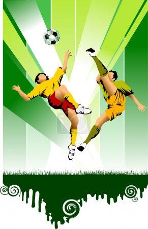 Soccer green sun