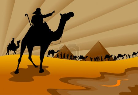 Illustration for Abstract background - out of the Jews from Egypt ((vector and illustration); - Royalty Free Image