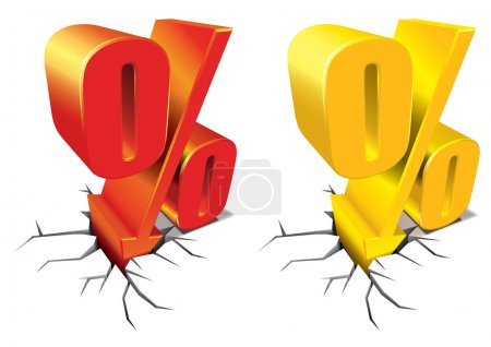 Illustration for Percent Discount 3d vector - Royalty Free Image